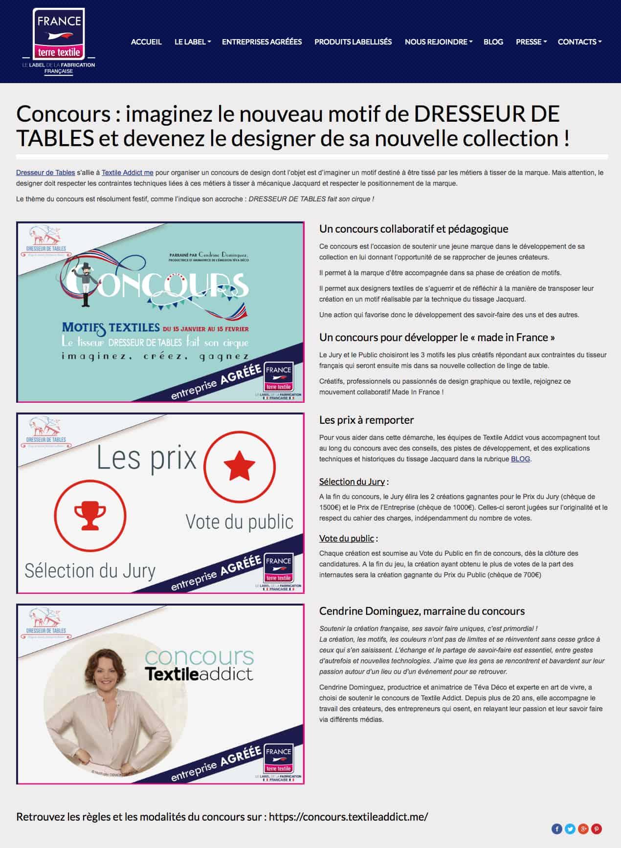france terre textile concours textile addict