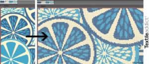 mise en carte motif jacquard tricot_TextileAddict