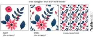 creer un motif rapport droit photoshop rebouclage_TextileAddict