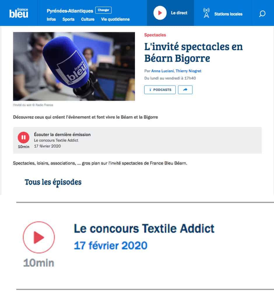 france bleu concours textileaddict 2020