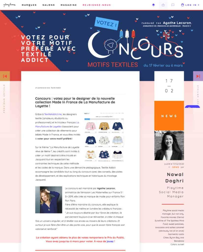 iloveplaytime concours textileaddict 2020