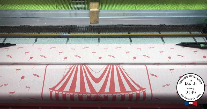 tissage motif prix jury version rouge concours textileaddict 2019