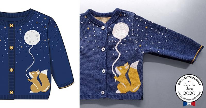 tricotage motif jacquard laureat concours textileaddict 2020