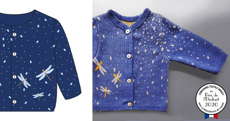 tricotage motif jacquard prix etudiant concours textileaddict 2020