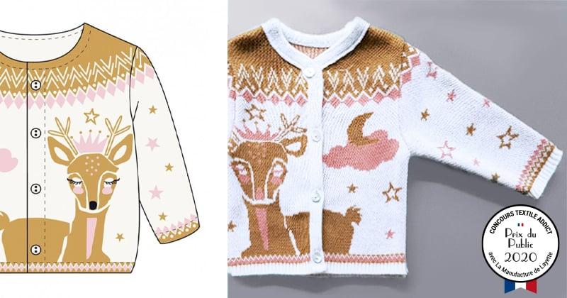 tricotage motif jacquard prix public concours textileaddict 2020